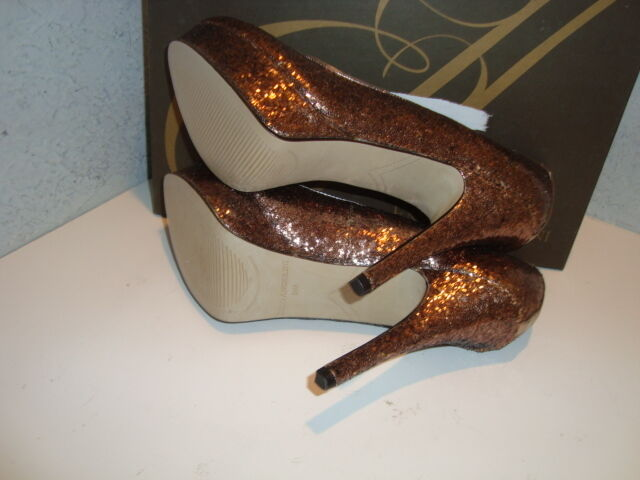 Enzo Angiolini NWB Damenschuhe Smiles Gold Sequin Heels Schuhes 9 Medium