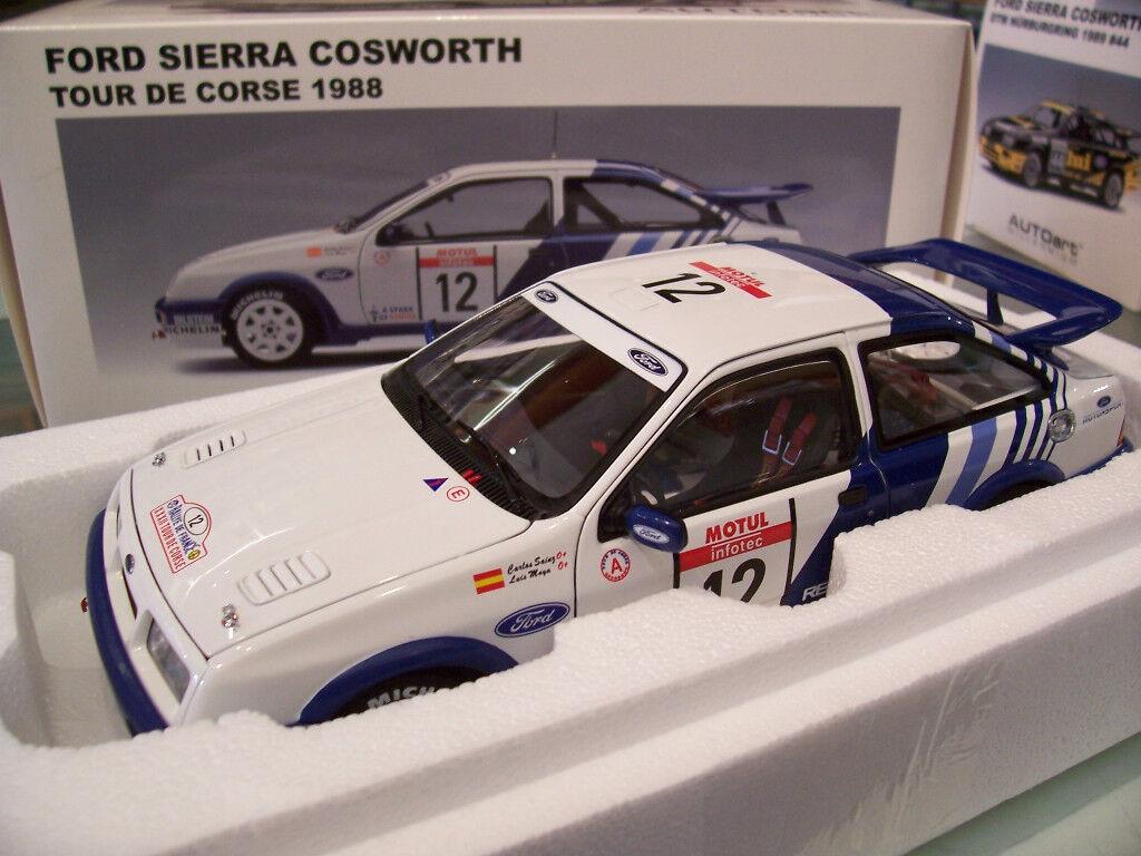 FORD SIERRA COSWORTH TOUR DE CORSE 1988 CARLOS SAINZ   12 au 1 18  AUTOart 88811