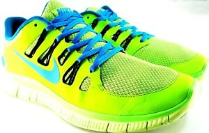 aa43be29186f1 Nike Free 5.0 Athletic Men Shoes Size 12 Euro 46 Neon Green Blue 03 ...