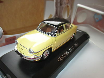 Panhard PL 17 pl17 Limousine saloon (1961) in gelb jaune, Solido in 1:43 boxed!