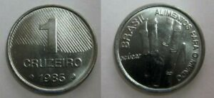 5 Cruzeiros 1985 FAO SUGAR AND COFFEE KM#598 VERY SARCE UNC G87 Brazil 1