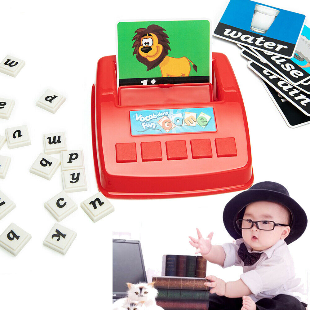 English Spelling Alphabet Puzzle Spell Words Game Early Learning Educational Toy 1