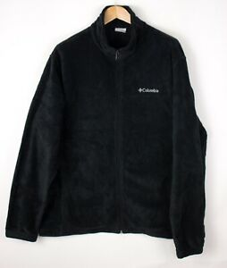 COLUMBIA-Men-Casual-Zip-Fleece-Jumper-Sweater-Size-2XL-XXL-ATZ1059