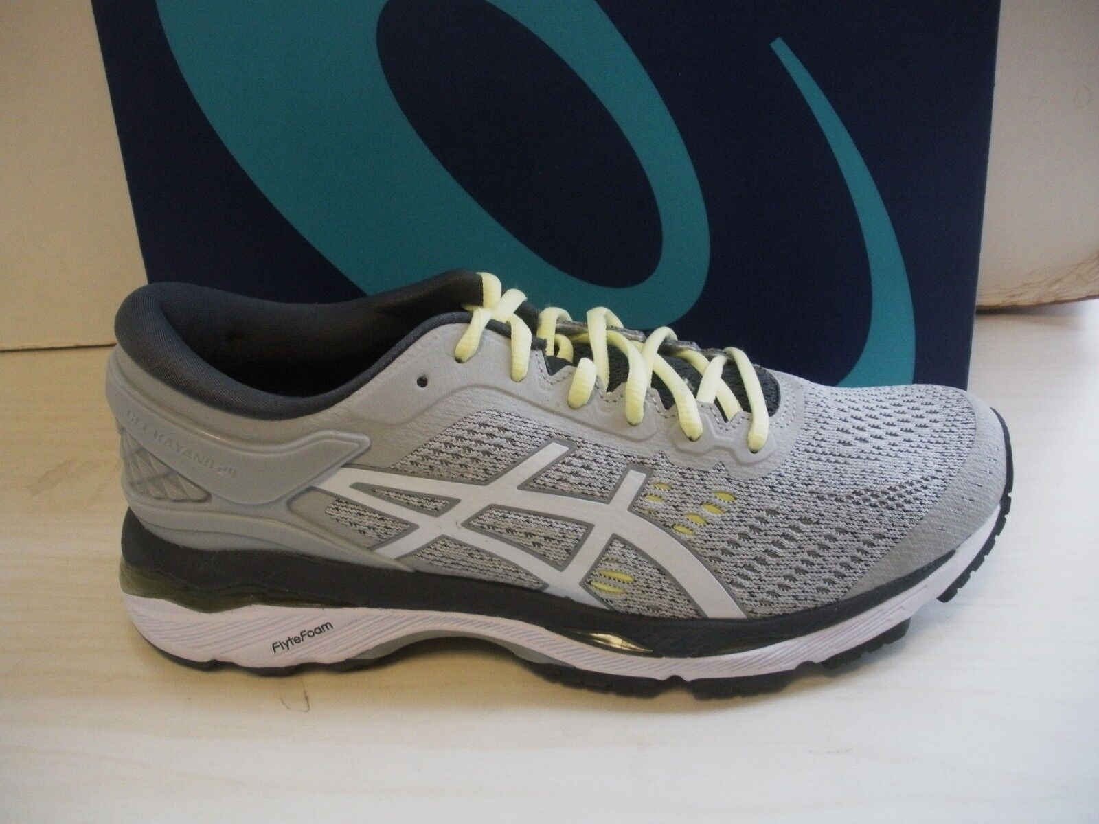 ASICS WOMENS GEL-KAYANO 24 RUNNING SNEAKERS-SHOES-T799N-9601-GLACIER GREY-6.5,10