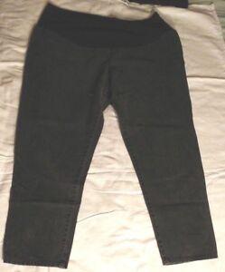 Maternity Jeans Straight Leg Black Denim Size XL