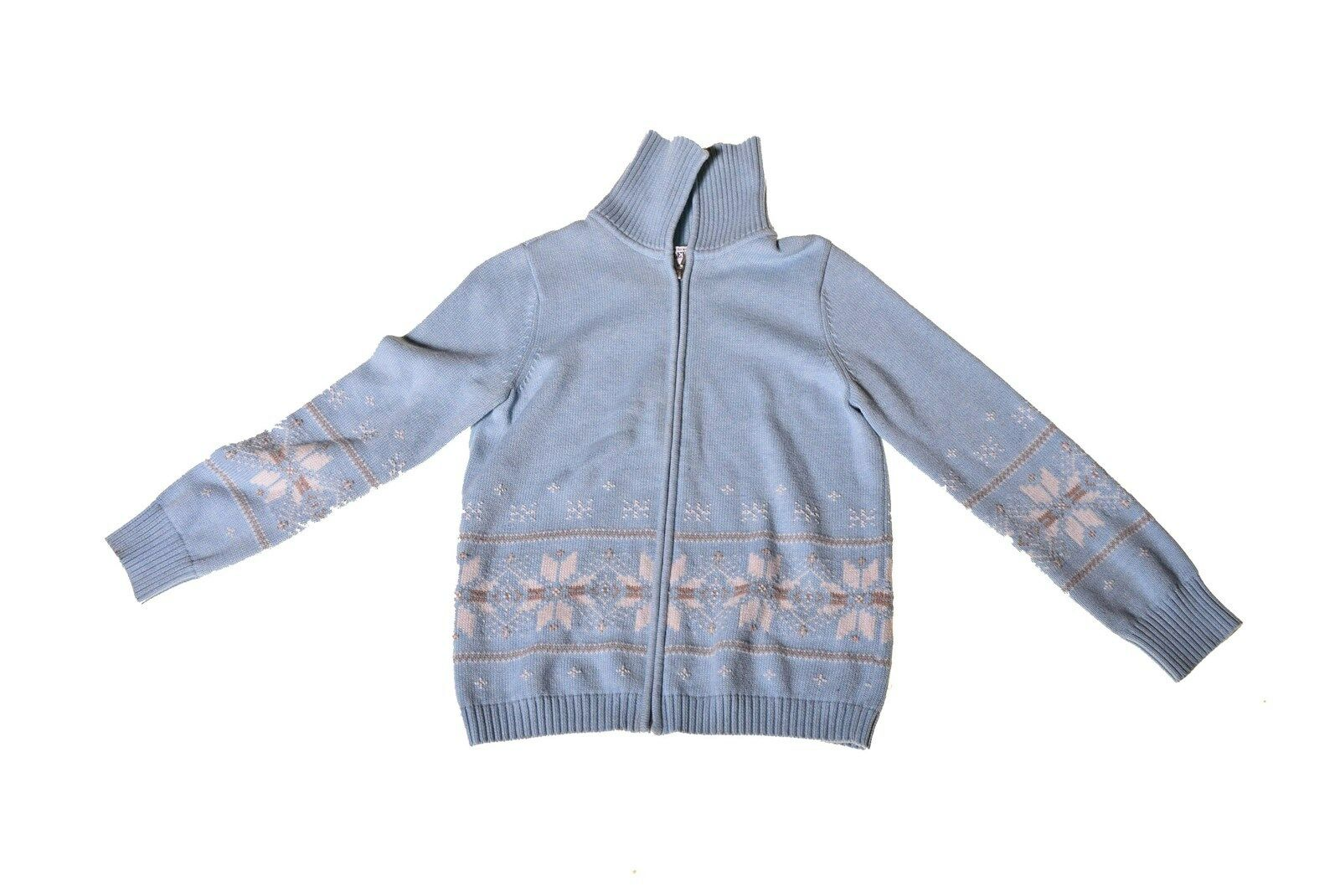 Women's Pendleton Wool Sweater bluee Snowflake Design Small