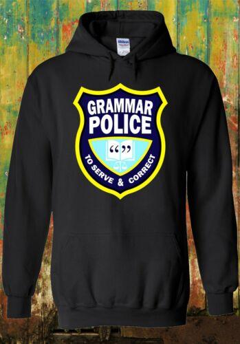 GRAMMAR POLICE Correct Serve Book Men Women Unisex Top Sweatshirt Hoodie 2616