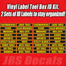 Tool Box Label Vinyl Decal Tool Labels