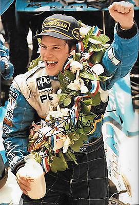 Jacques Villeneuve SIGNED 12x8 Victory Lane  Portrait Indianapolis 500 1995
