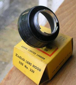 25mm push fit  lens hood  slip on shade kodak UK make 250