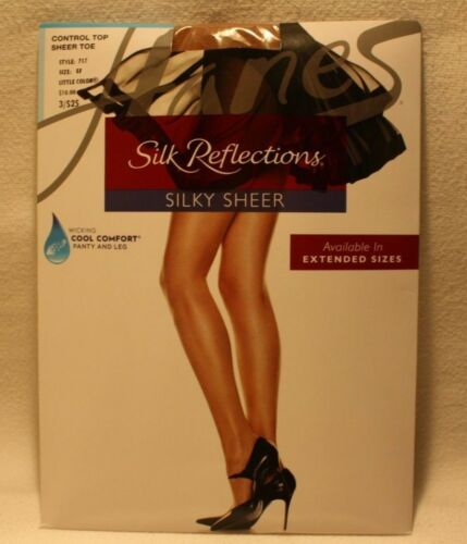 Hanes Silk Reflections Silky Sheer control top sheer toe EF Little color