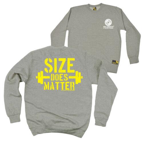 FB Gym Bodybuilding Sweatshirt Size Does Matter Novelty Sweater Jumper
