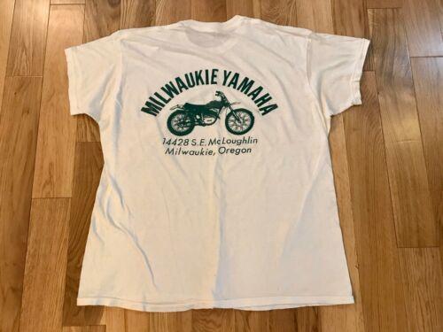 Vintage 1960's 70s T Shirt Original YAMAHA Motorcy