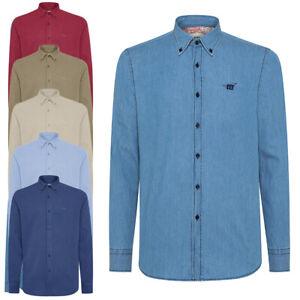 Camicia-lino-uomo-HENRY-COTTON-039-S-button-down-lunga-cotone-casual-sportiva
