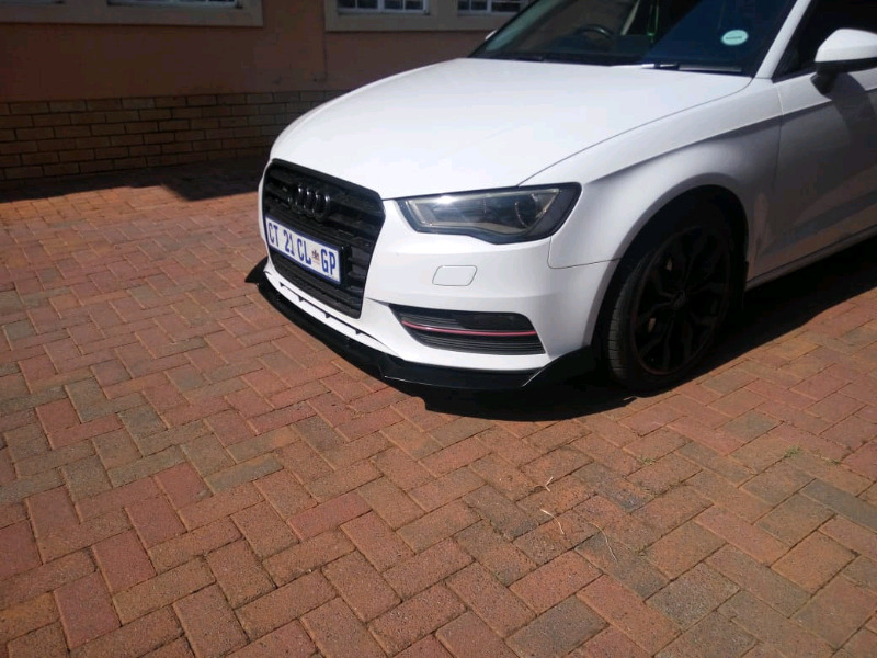 Audi A3 front lips with side arrows