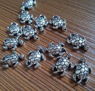 20-100pc Tibetan Silver Sea turtle Spacer Beads retro Accessories Wholesale PJ72