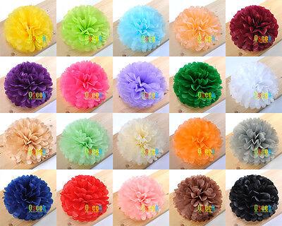 "Tissue Paper Pom Poms Flower Ball Wedding Party Birthday Decor 6""/8""/10""/15"""