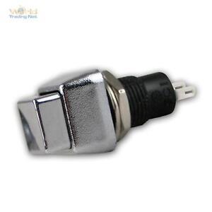 10x pression-palpeur Chrome 4-rectangulaire Max 3a - 125v normalement ouvert push-on, bouton poussoir Bouton  </span>
