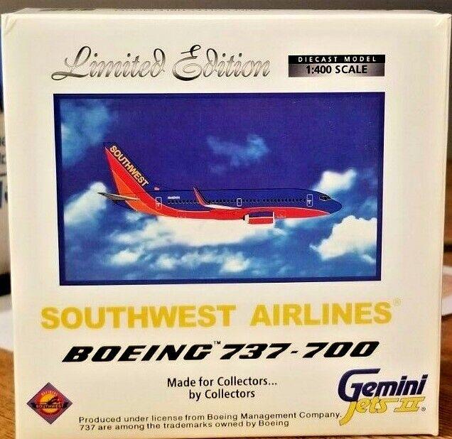 C) Boing 737-700 sud-ouest Gemini Jets II échelle 1 400