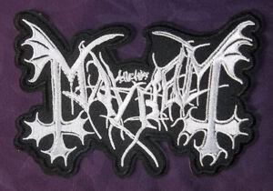 Details about MAYHEM PATCH BLACK METAL DEATH THRASH SPEED METAL BIKER  HARLEY PUNK DIY