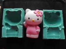 Silicone Mould 3D HELLO KITTY Sugarcraft Cake Decorating Fondant fimo / mold