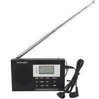 Dsp Fm Stereo / Mw / Sw Radio Mini Portable Digital Clock +tracking No Us