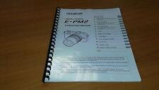 Olympus E-PM2 Fotocamera Digitale stampato Manuale di Istruzioni User Guide) 133 PAGINE