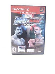 WWE-SmackDown-vs-Raw-2006-Sony-PlayStation-2-2005-Greatest-Hits-CIB-Tested