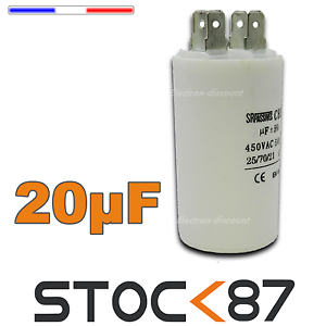 CD20/450# condensateur moteur de démarrage 20µf 450V - capacitor 20 uf motor
