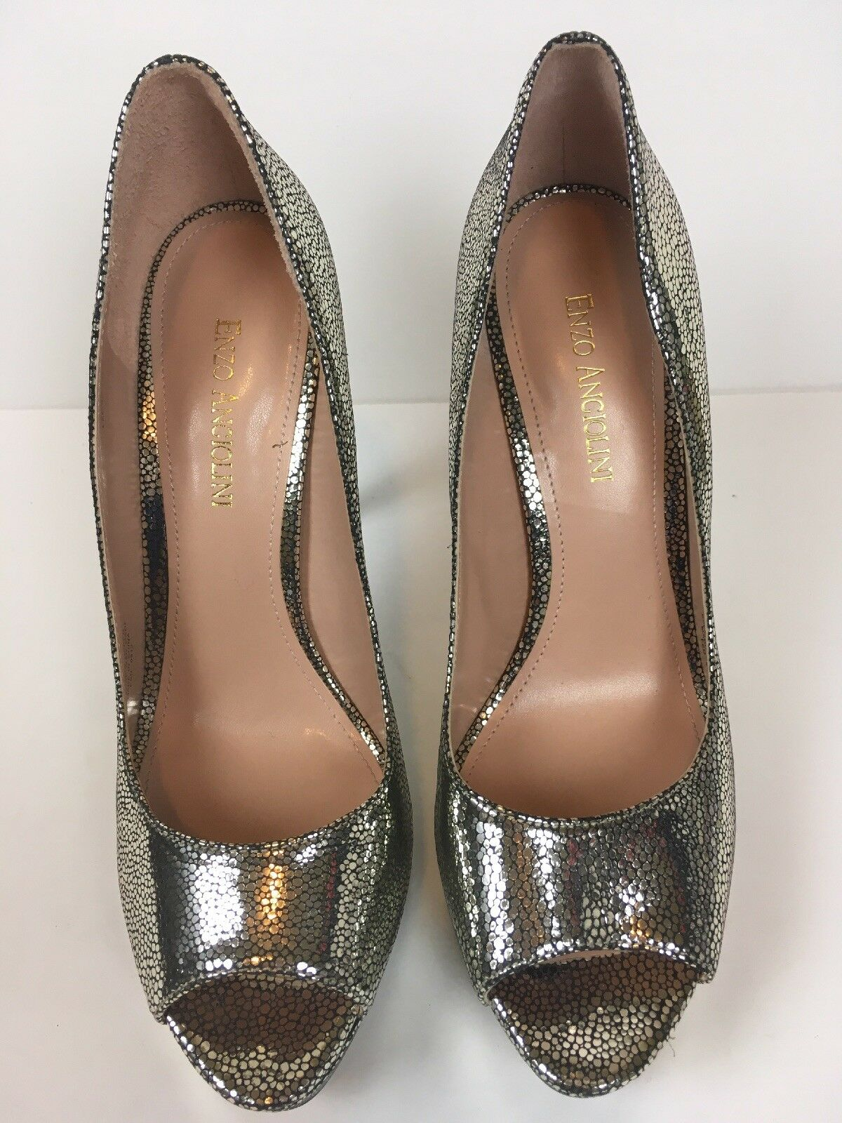 Enzo Platform Angiolini Womens Peep Toe Pumps Platform Enzo Heels Shoes Size 8.5 d9e710