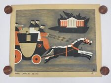 Original Vintage British ROYAL MAIL - MAIL COACH Poster - Large Format