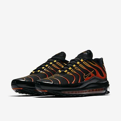 wholesale dealer 131be 23bfb Nike Air Max 97 Plus Running Shoes Black Engine Orange Rise AH8144-002  Men's | eBay