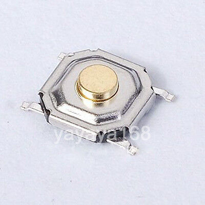 100pcs SMT Tact Switch 5x5x1.5mm Pushbutton Tactile Switches SPST-NO Copper RoHS