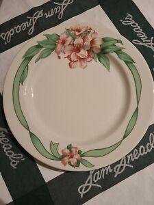 "Greenbrier Resort Hotel Dorothy Draper Ribbon Homer Laughlin China 10 1/4"" Plate"