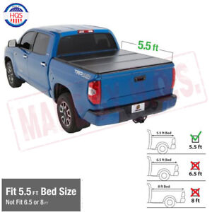 Hard-Solid-Tri-fold-Tonneau-Cover-For-04-18-Ford-F150-Truck-5-5ft-short-Bed
