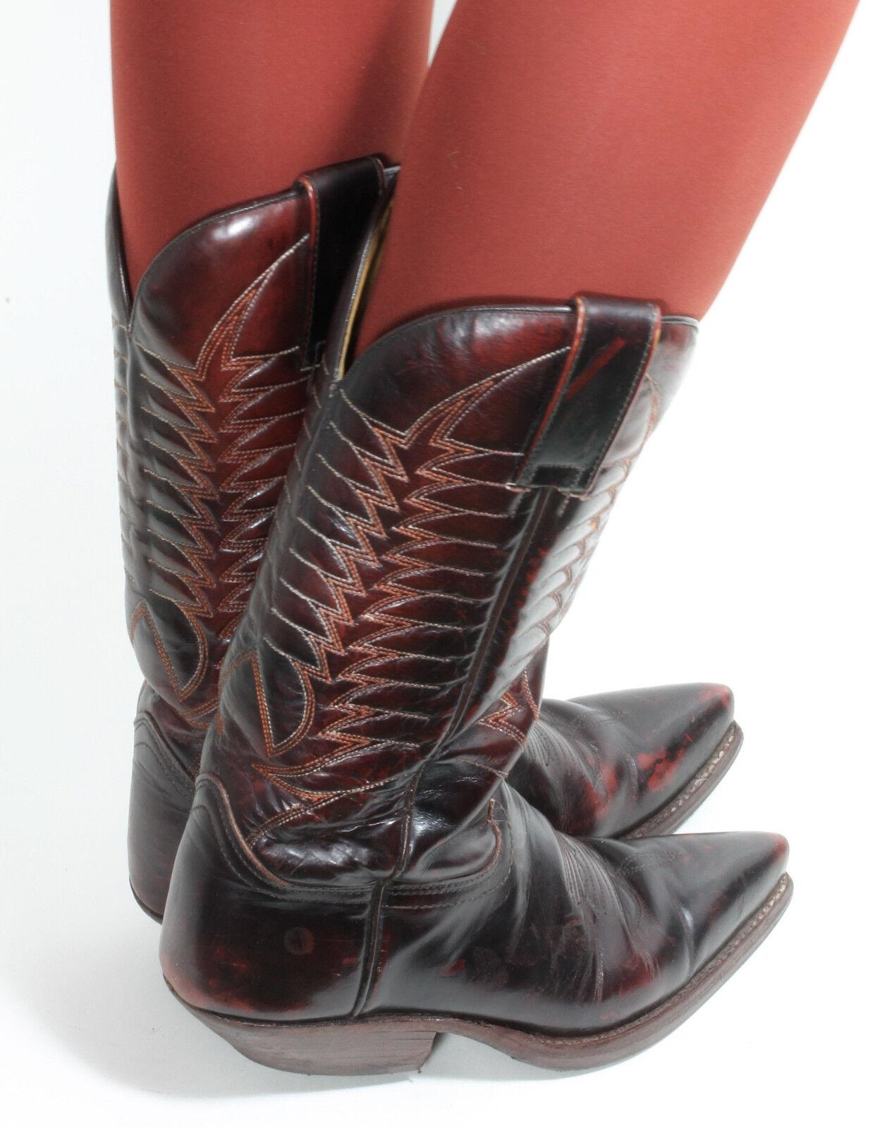 Westernstiefel Cowboystiefel Catalan Line Style Line Catalan Dance Texas Mosquito Stiefel 37 dd3632