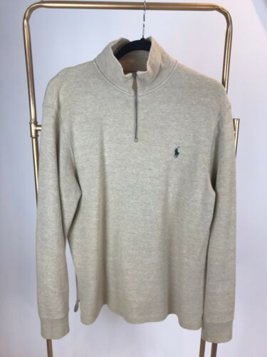 Polo Half Zip Sweater Khaki