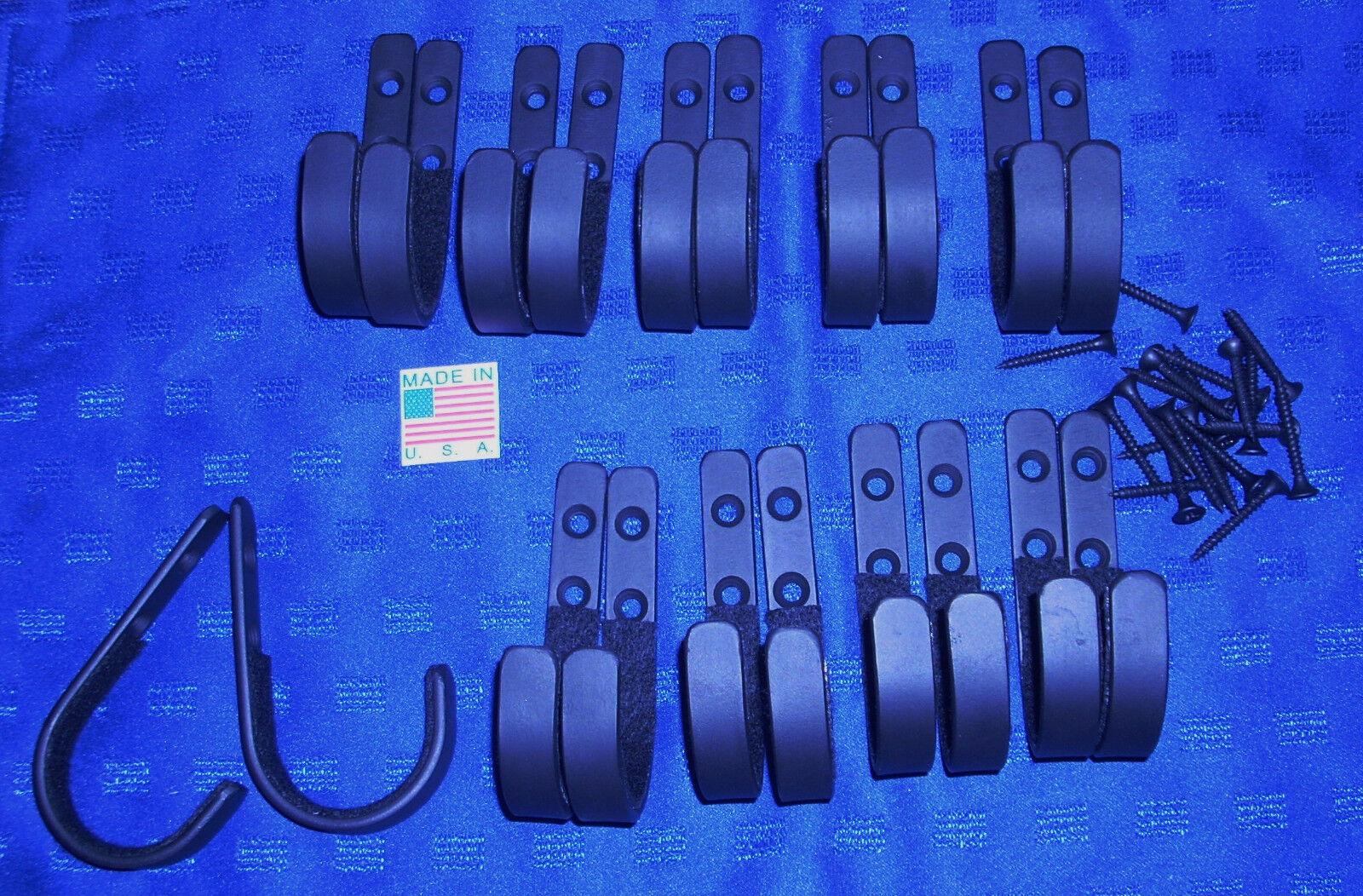 10 conjuntos Pequeña Llanura de montaje en parojo estante para armas Escopeta Ganchos Rifle Perchas forrada de fieltro