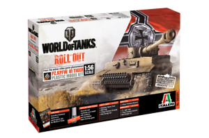 ITALERI MODEL KITS 56501 WORLD OF TANKS ROLL OUT GERMAN TIGER 1 56 FREE SHIP