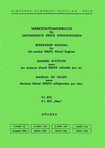 Deutz Werkstatthandbuch Motor 712 Traktor D40L F3L712 .