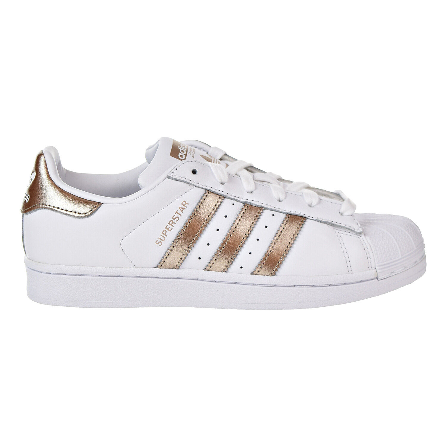 White Cyber Metallic Leather Shell