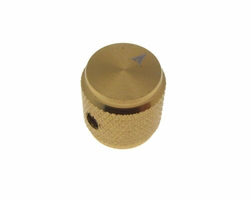 GLD HQ 6mm Hole Dia Aluminum Solid Knob Cap for Flatted Rotary Pot 13*13