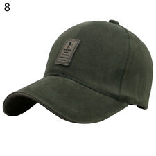AM  Men s Polo Baseball Cap Outdoor Golf Caps Cotton Adjustable Sports Hat  Delux f86c599ae793
