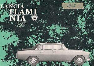 Lancia Flaminia 2.8 Berlina 1963-65 UK Market Multilingual Foldout ...