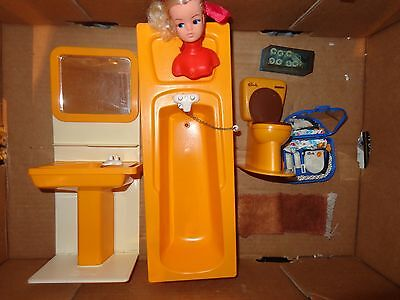 Job Lot Vintage Sindy Dolls House BATHROOM Furniture AND ACCESSORIES