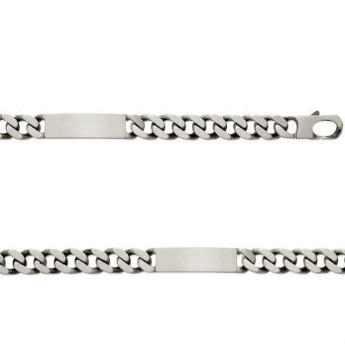 Bracelet GOURMETTE HOMME 22 cm 12 mm ARGENT Vieilli NEUF BijouterieJOLYBIJOUX