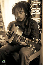 Bob Marley Sepia Poster Guitar Music Jamaica Reggae Rastafarian Spirituality New