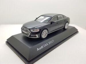 Audi A8l D5 3.0 Tdi Tfsi Quattro Myth Noir Iaa 2017 Échelle 1:43 (Modèle du concessionnaire)