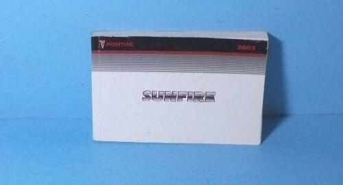 03 2003 Pontiac Sunfire owners manual