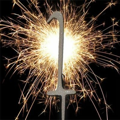 Stupendous 1 One Number Sparkler Birthday Cake Age Number 1 Silver Party Funny Birthday Cards Online Alyptdamsfinfo